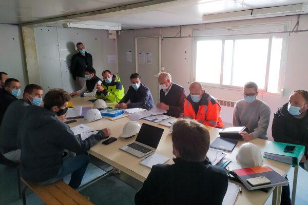 Réunion de chantier Brest Gouesnou