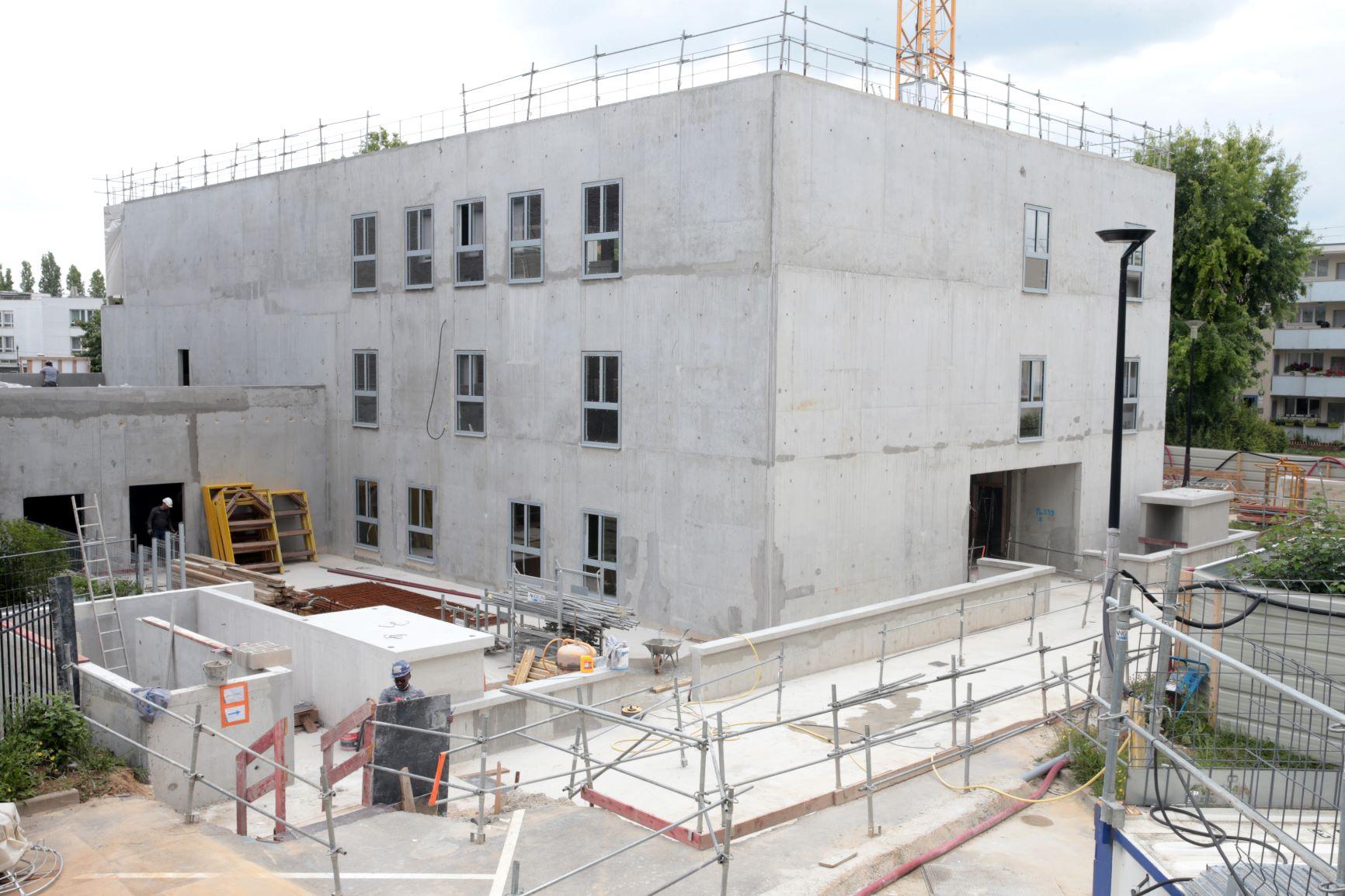 Visite de chantier pour les équipes de ville d'Orly