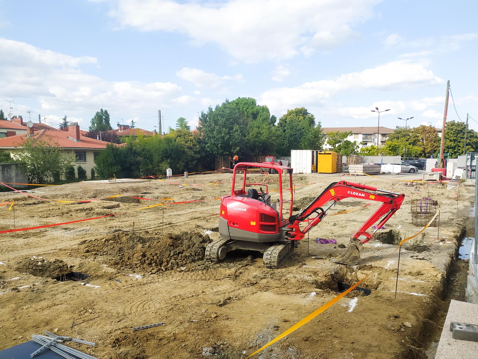 Début des travaux à Toulouse, La Terrasse